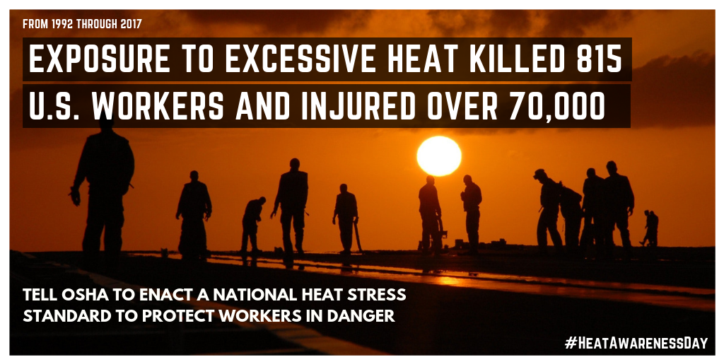 Here Its Summer All Time >> Will Osha Bring The Heat This Summer Groups Continue To Press For